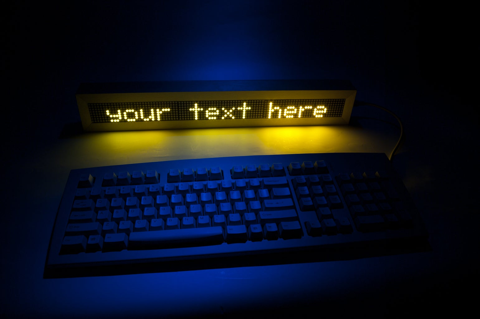 PS/2/You: Go-anywhere, LED Digital Message Board
