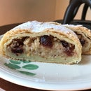 Easy Apple, Cranberry and Almond Strudel