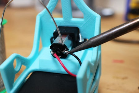 Solder the Battery Box to the Motor