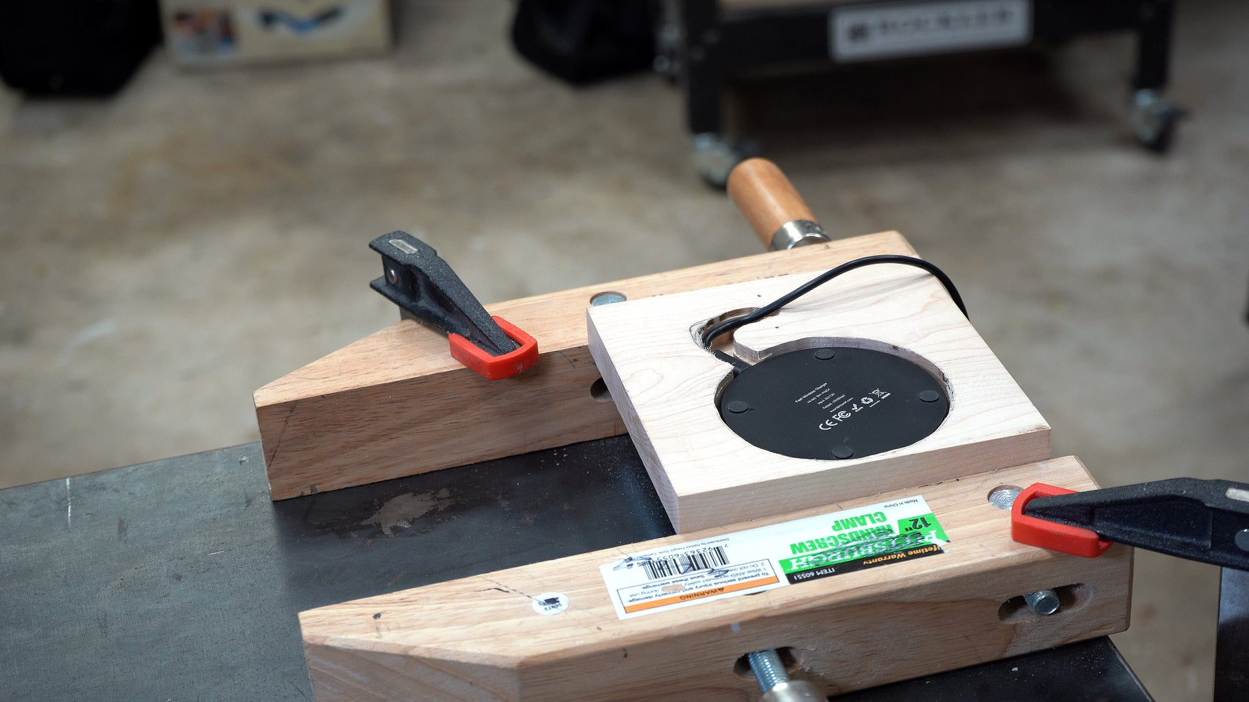 Route the Lamp Base for the Wireless Charger