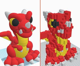 使用tinkercad将3D设计转换为可膨胀的砖模型