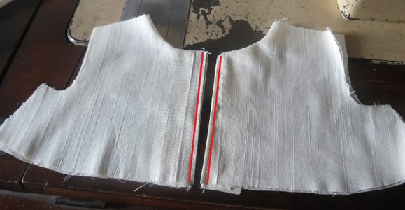 Sewing Neck Line..