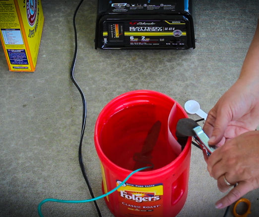 Electrolysis for Rust Removal – Coffee Container