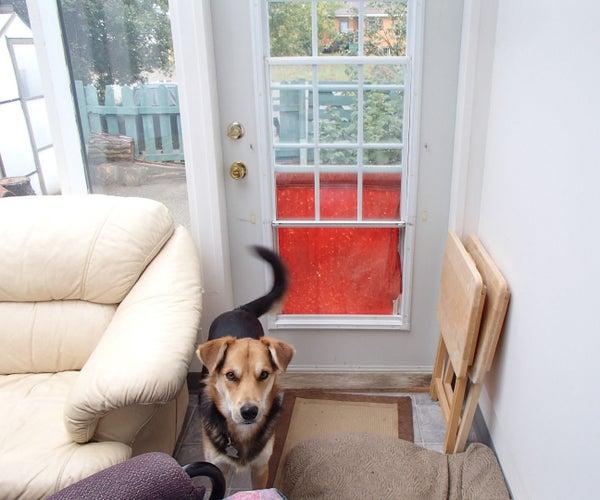 Dual Duty Doggie Door