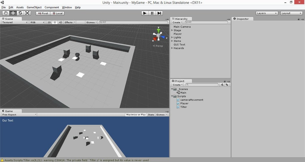How To Make A Simple Game In Unity 3d 12 Steps Instructables