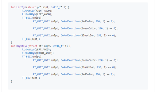 Programing. Protothread Routines