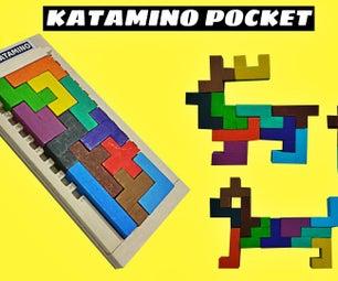 DIY Katamino Pock-拼图棋盘游戏从冰棒棒