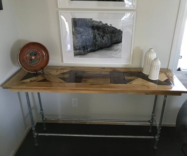 Upcycled Pallet Steampunk Sofa Table