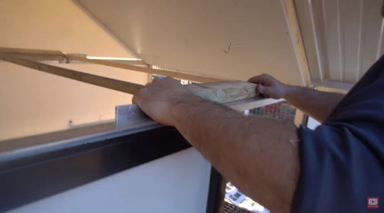 Remove the Temporary Roof Support and Put in the Roost.