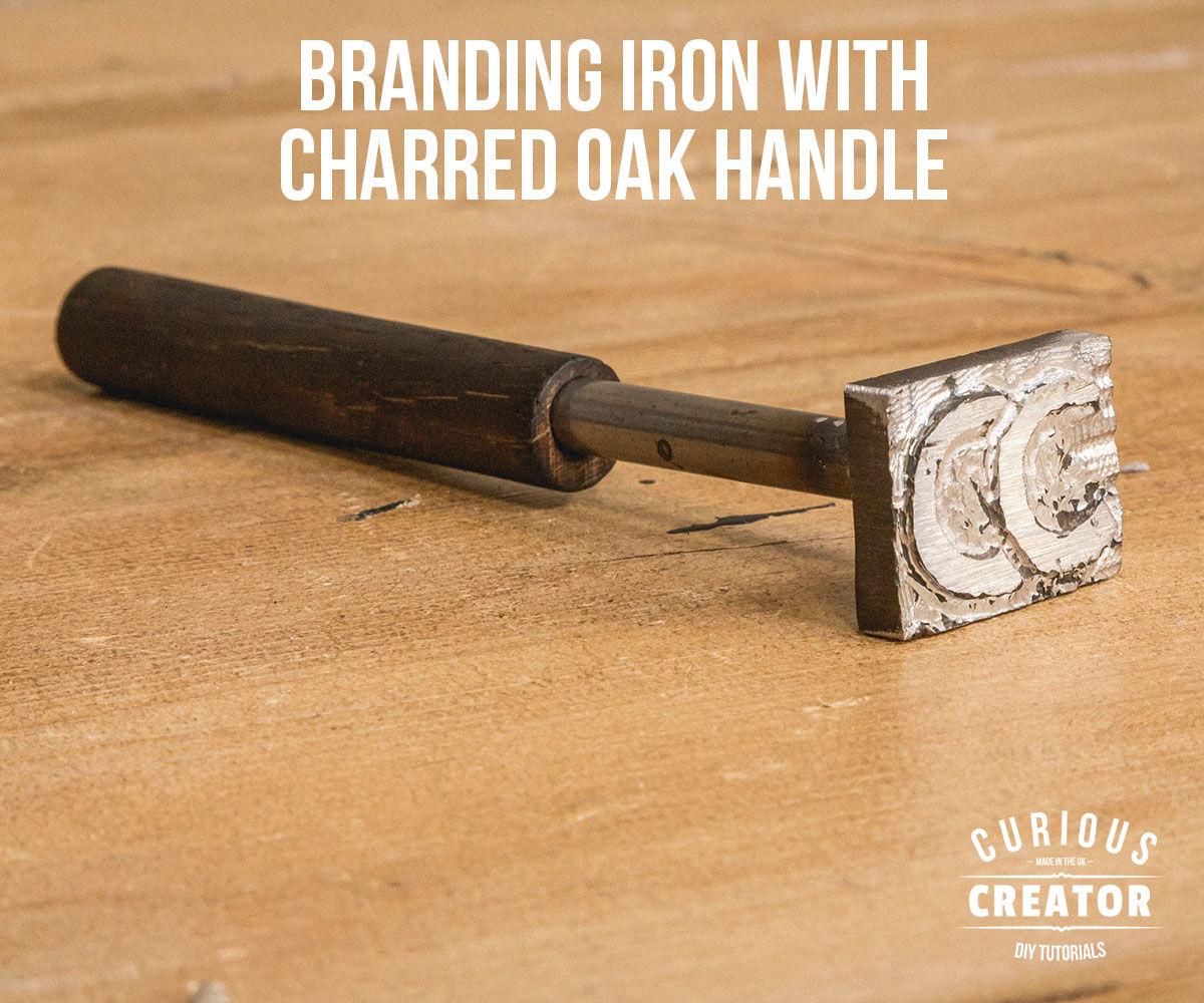 Branding Iron With Charred Oak Handle