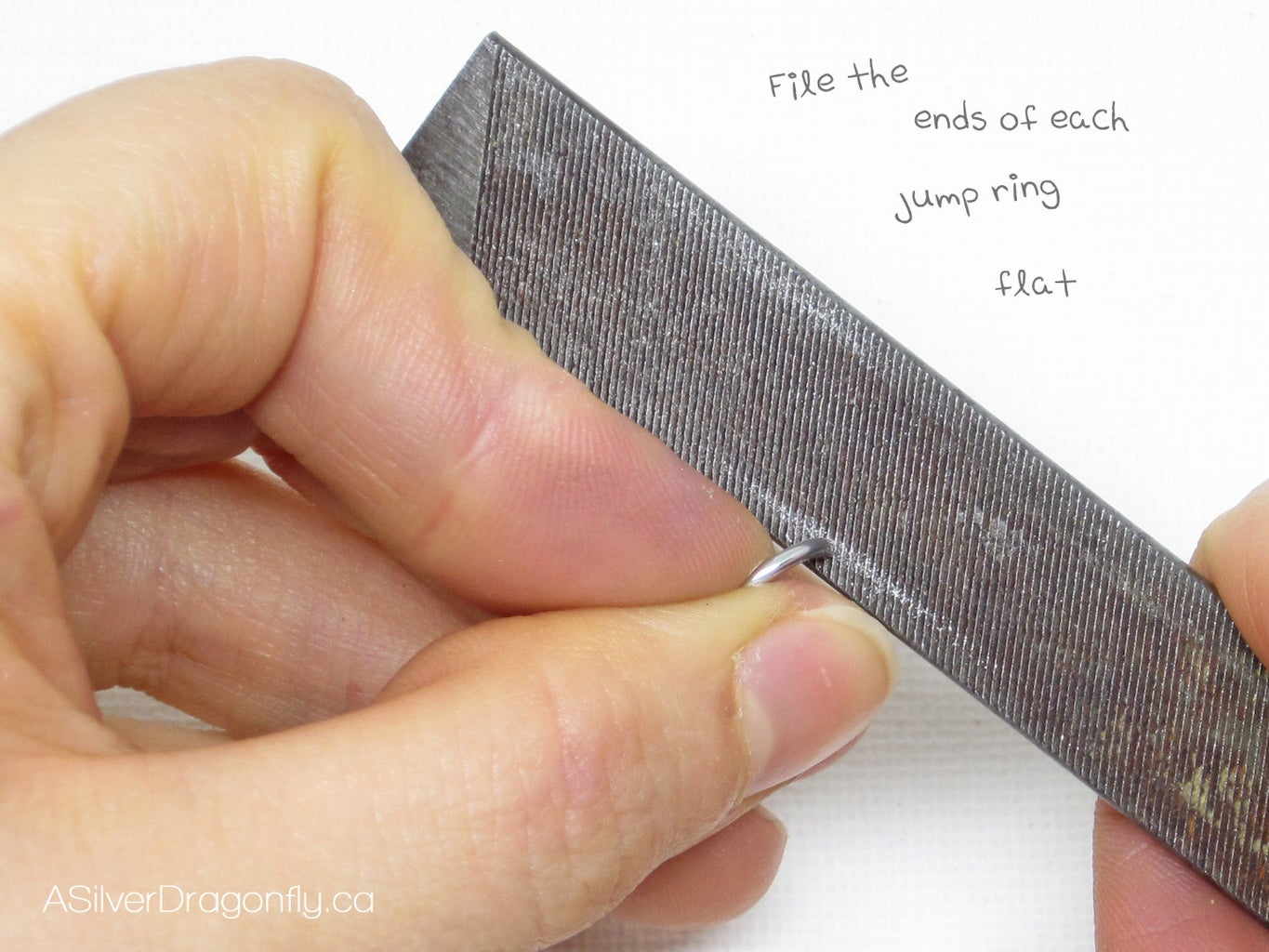 Filing the Ends of the Jump Rings (Part 1)