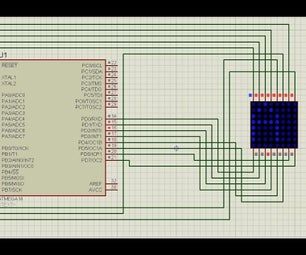 Interfacing Atmega16 Microcontroller With Dot Matrix Led Display