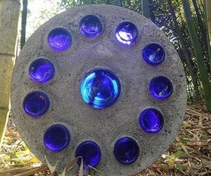 Large Glass and Concrete Suncatcher