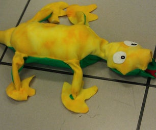 Leopold the Robotic Dancing Plush Lizard