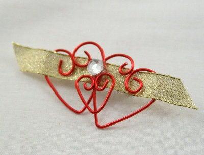 Wire Heart Valentine's Brooch