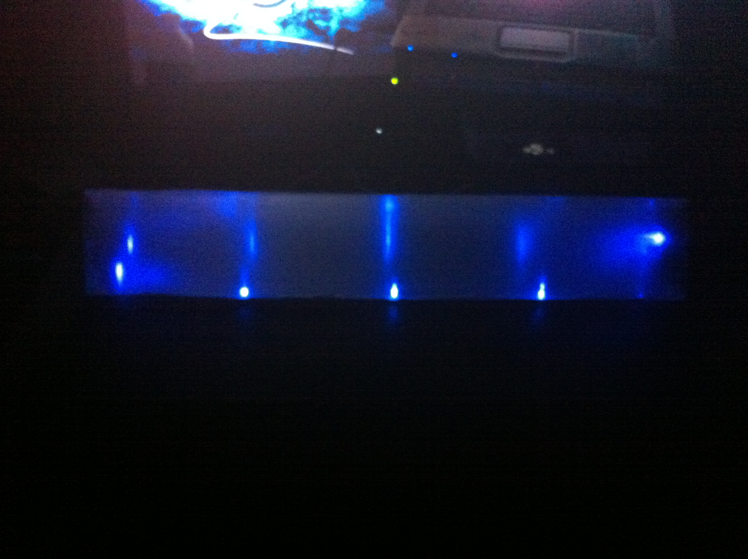 Tip31 + LEDs glowing tube