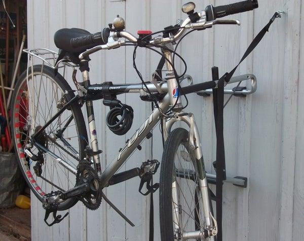 Bike Holder Repurposed As Bike Repair Stand