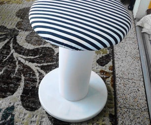 Easy No Sew Diy Round Stool Made From Plastic Spool Thingy