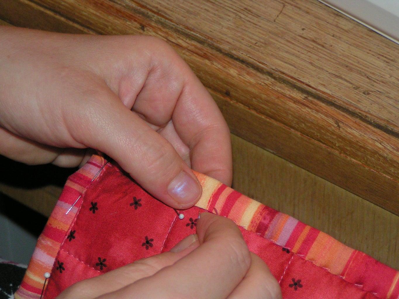 Hand-stitch to Finish.