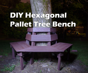 DIY Hexagonal Tree Bench from Wood Pallets - 100% Pallet Wood