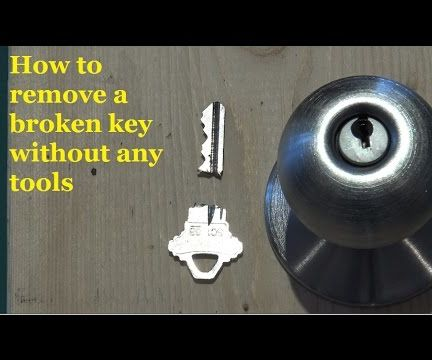 Two Ways to Remove a Broken Key From a Lock - DIY Key Extractor