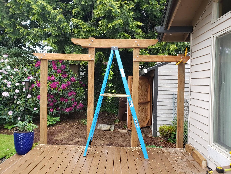 Swing Arbor Board Installation Part 4