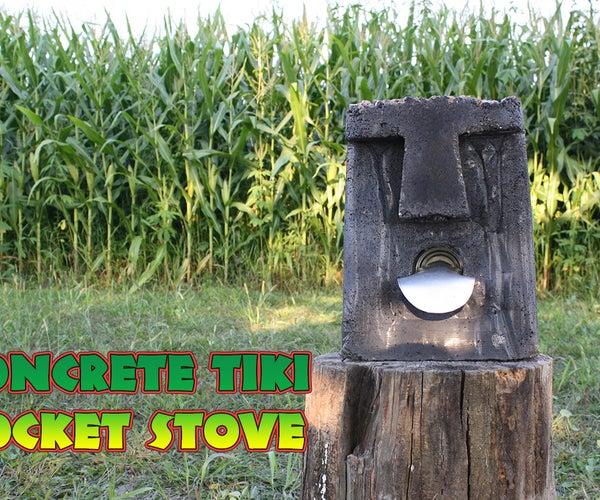 Concrete Tiki Rocket Stove