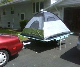 Removable Tent Platform for Trailer