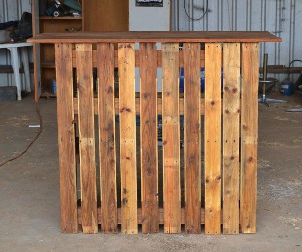 Recycled Pallet Bar (AT NO COST)