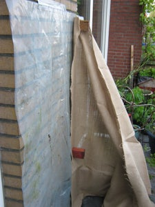 Attaching the Jute Cloth