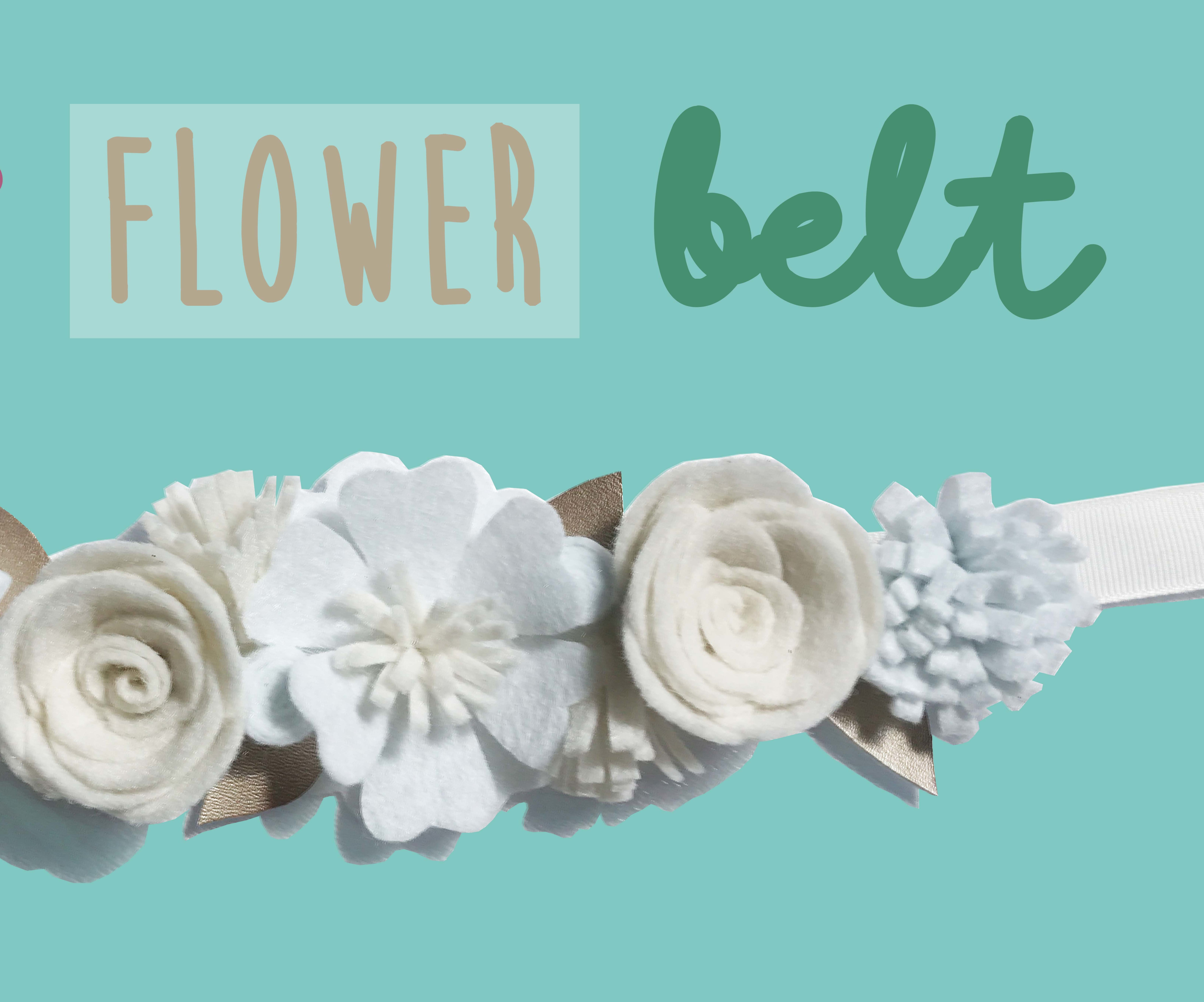 Felt Flower Belt DIY