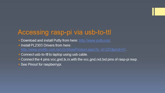 Accessing Rasp-pi Via Usb-to-ttl