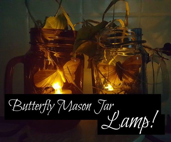 Butterfly Mason Jar Lamp