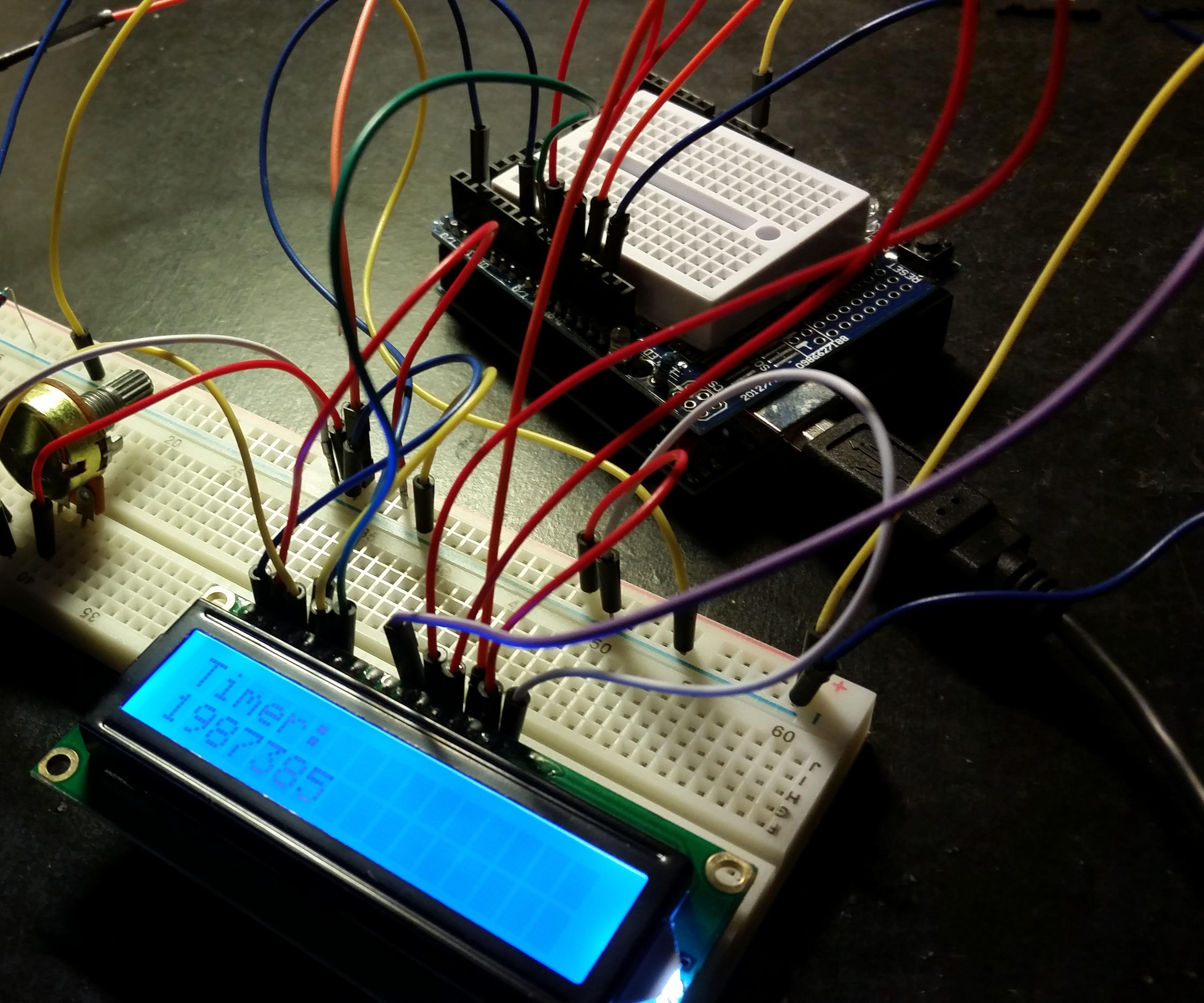 Arduino: Display Messages Using Hardware Interrupts