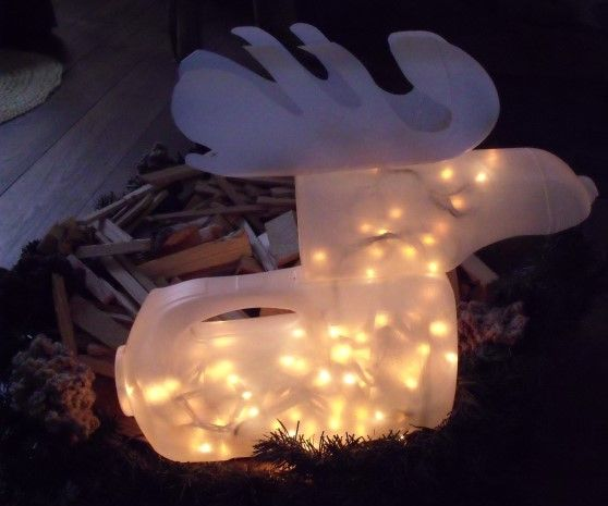 Rudolph, the lighted bottle reindeer