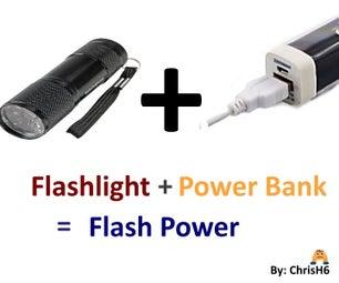 Rechargable Flashlight PowerBank