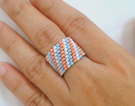 Peyote Beaded Ring