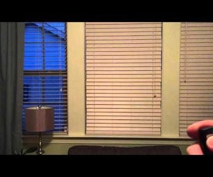 Remote Control Blinds for $20
