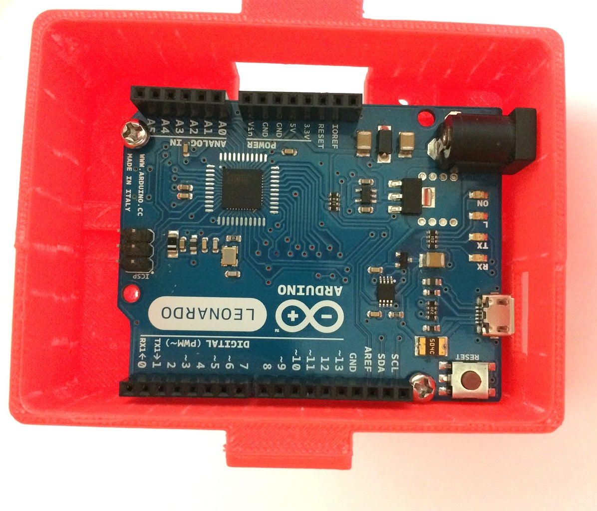 Mounting the Arduino Cover