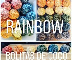 Rainbow Bolitas De Coco! Pura Vida!