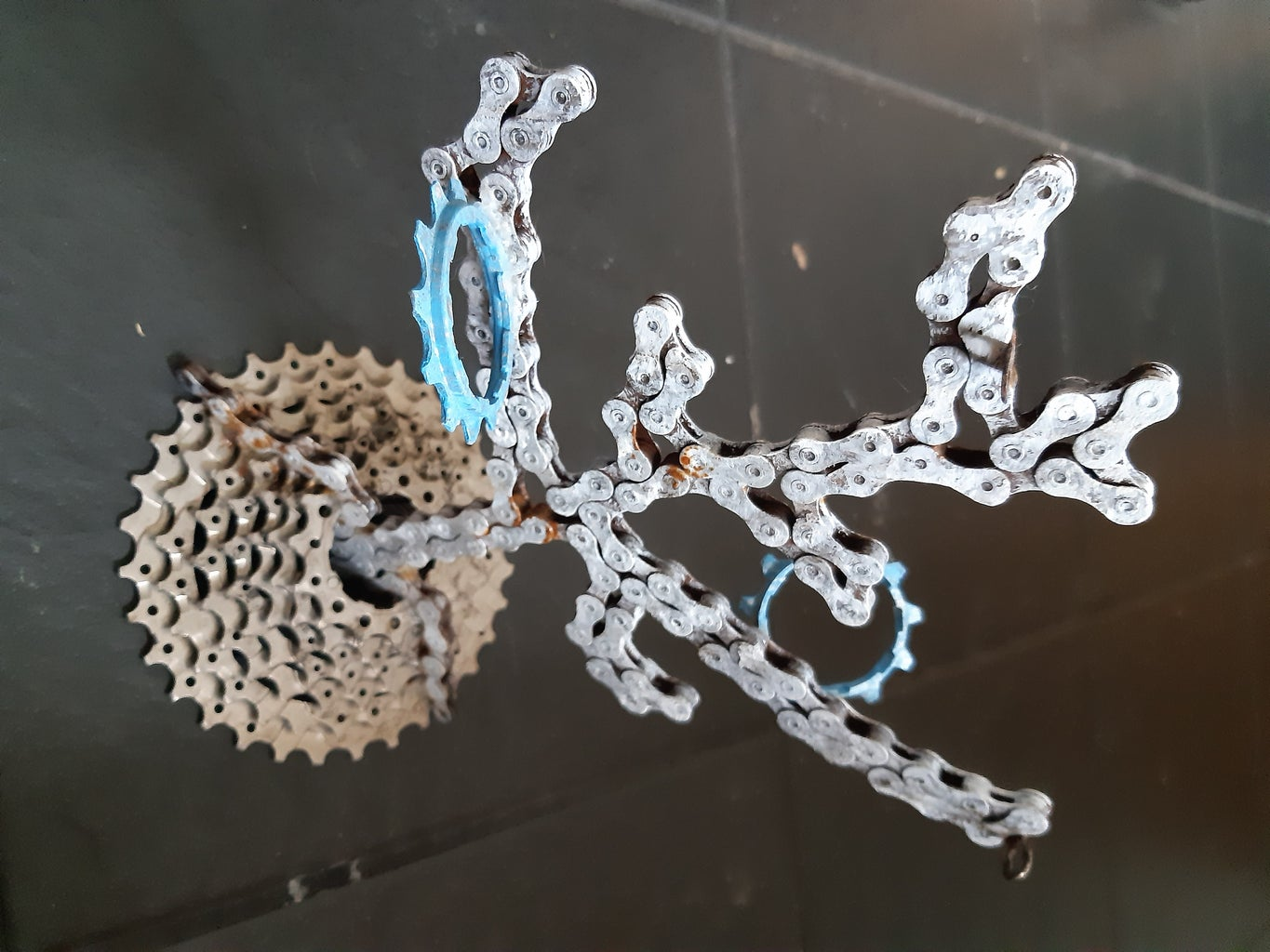 Upcycled Bicycle Chain Key Holder