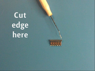 Remove and Cut One Edge of All Contacts