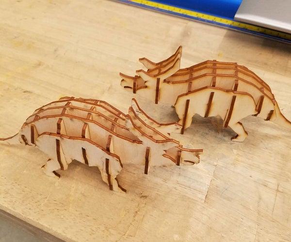 Laser Cut Triceratops