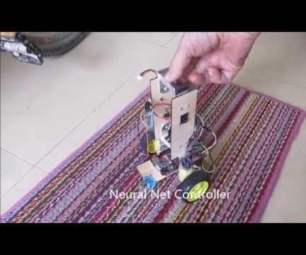 Arduino Neural Network Self Balancing Two Wheel Robot