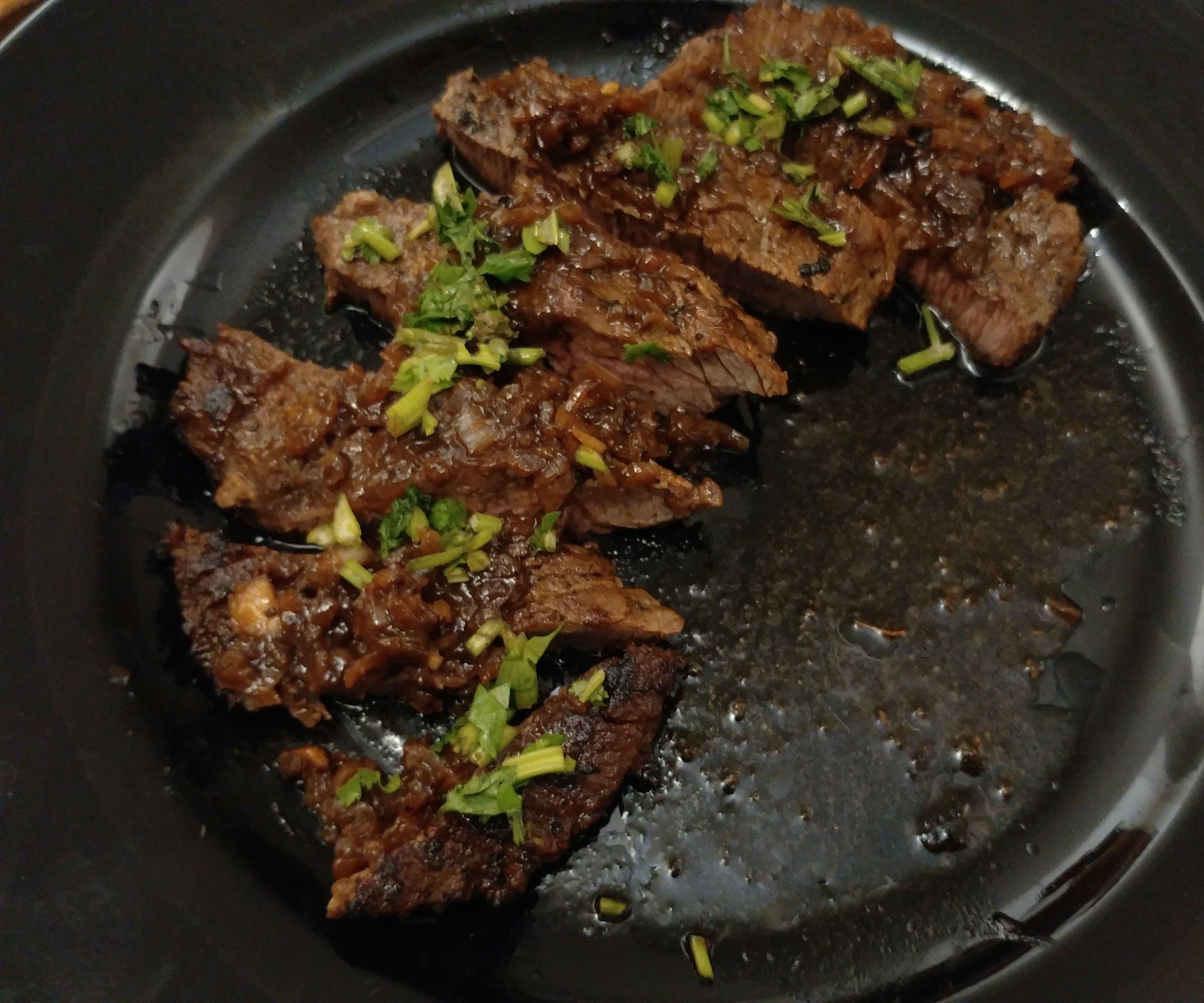 Hong Kong Style Sirloin Tip Steak