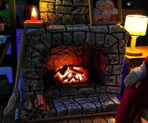 Realistic Miniature Smouldering Fireplace