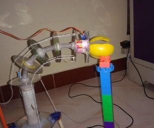 BT Mobile Ctrl Trunk Robotic Arm Using String