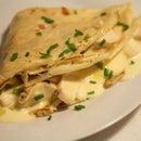 Gorgonzola Dolce and Walnut Crepes Recipe