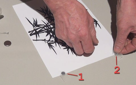 Tape Magnets to Paper