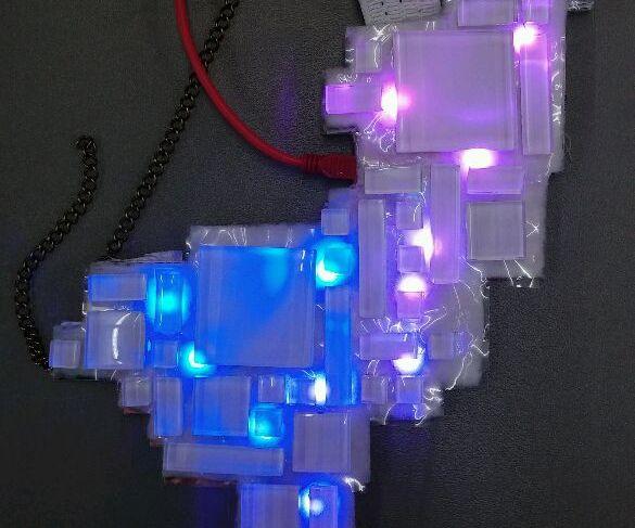 Tile Neopixel Necklace